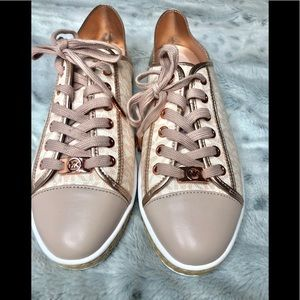 Michael Kors sneakers 8.5 & 7.5 NEW Rose gold MK